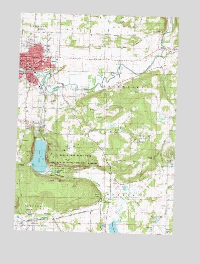 Baraboo WI Topographic Map TopoQuest - Wisconsin topographic lake maps