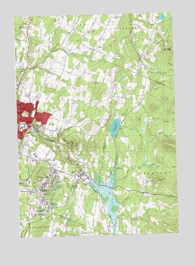 Barre East, VT USGS Topographic Map