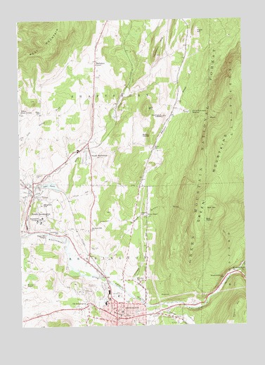 Bennington, VT Topographic Map - TopoQuest
