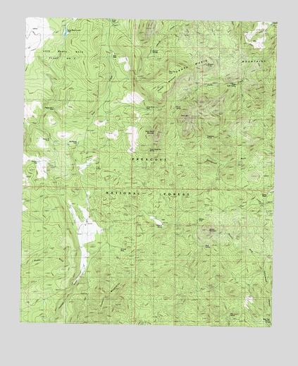 Camp Wood Az Elevation : Camp wood az topographic map topoquest
