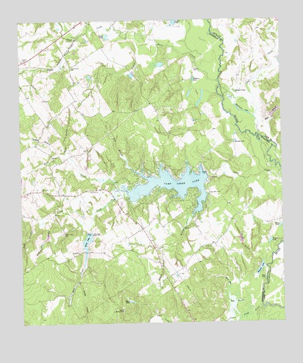 Camp Creek Lake, TX USGS Topographic Map