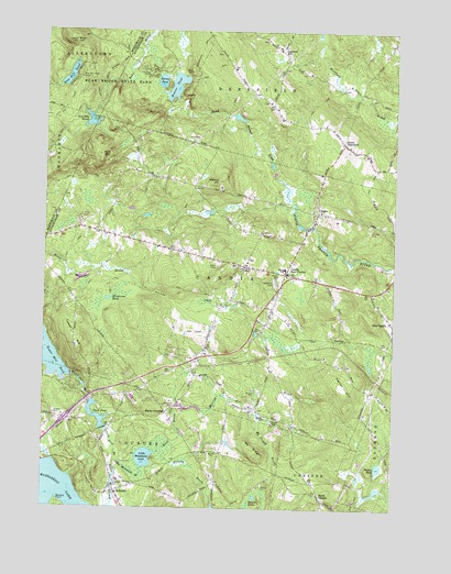 Candia, NH Topographic Map - TopoQuest on