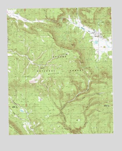 Topographic Map Arizona.Alpine Az Topographic Map Topoquest