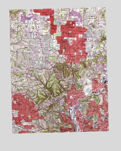 Cincinnati West Oh Topographic Map Topoquest
