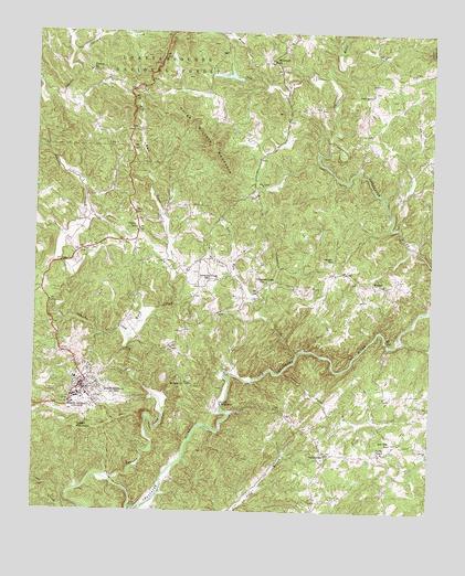 Dahlonega GA Topographic Map TopoQuest - Georgia map dahlonega