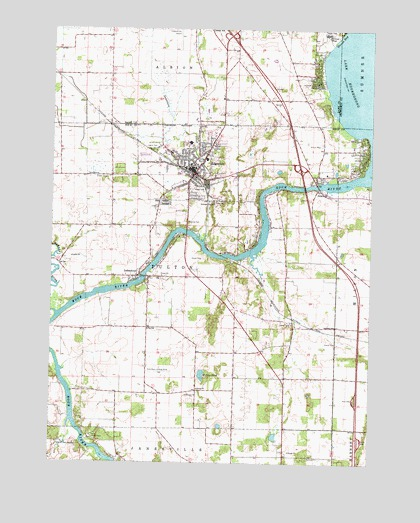 Edgerton, WI USGS Topographic Map
