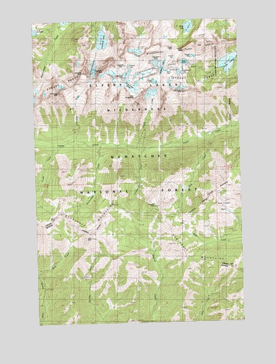 Enchantment Lakes, WA Topographic Map - TopoQuest