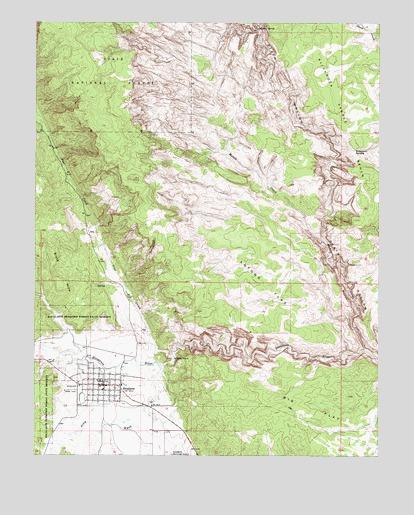 Escalante UT Topographic Map TopoQuest - Topographic map of utah