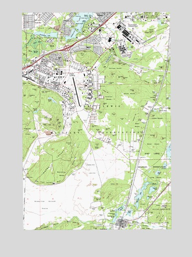 Fort Lewis WA Topographic Map TopoQuest - Mgrs maps for sale