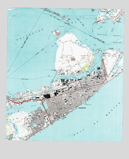 Galveston Tx Usgs Topographic Map