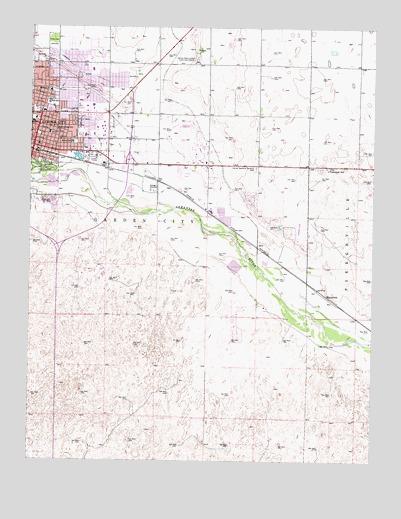 Garden City East Ks Topographic Map Topoquest
