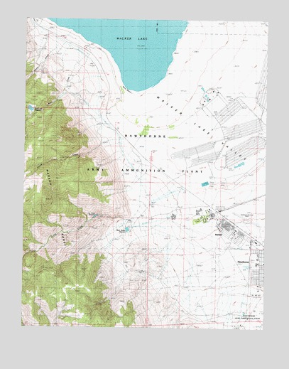 Hawthorne West NV Topographic Map  TopoQuest