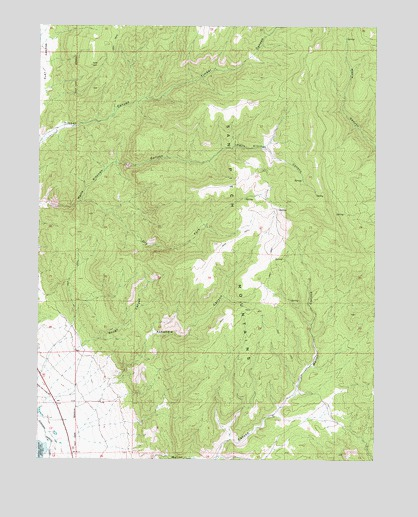 Hells Kitchen Canyon SE, UT Topographic Map