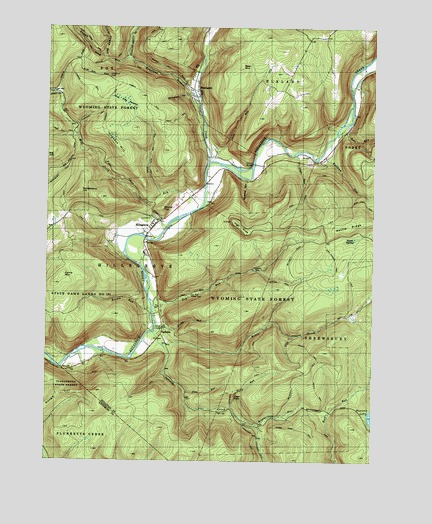 Hillsgrove, PA USGS Topographic Map