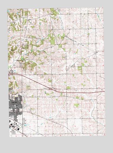 Iowa City East Ia Topographic Map Topoquest