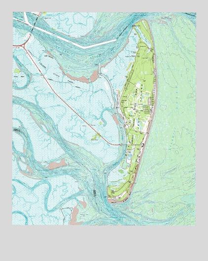 Jekyll Island GA Topographic Map TopoQuest - Georgia topographic map