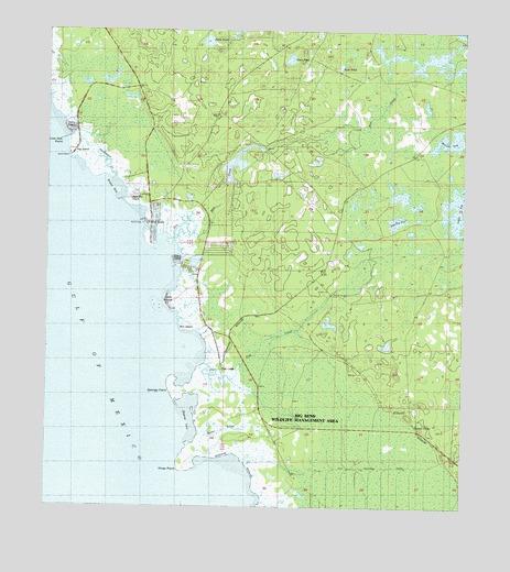 Keaton Beach Fl Usgs Topographic Map