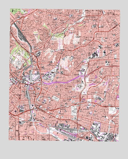 Los Angeles CA Topographic Map  TopoQuest