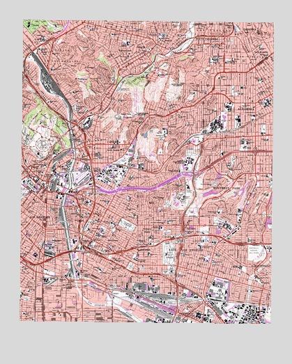Los Angeles CA Topographic Map TopoQuest - Los angeles topographic map