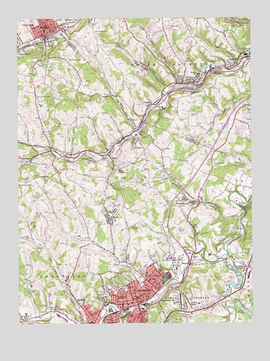 Canonsburg, PA USGS Topographic Map