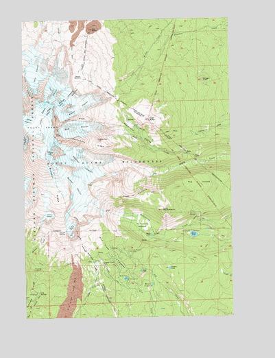 Mt Adams Washington Map.Mount Adams East Wa Topographic Map Topoquest