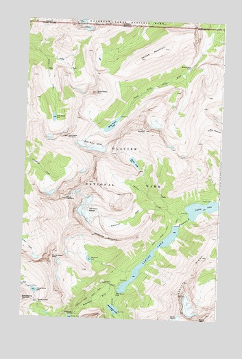 Mount Cleveland, MT USGS Topographic Map