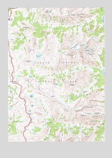 Mount Moran, WY USGS Topographic Map