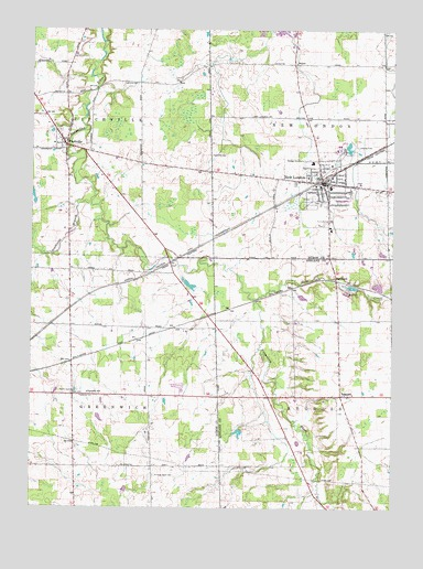 Topographic Map London.New London Oh Topographic Map Topoquest
