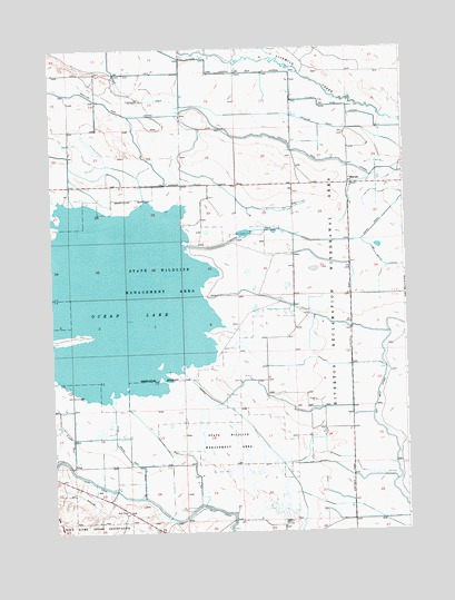 Ocean Lake, WY USGS Topographic Map