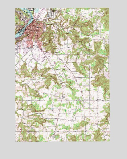Oregon City OR Topographic Map TopoQuest - Topographical map of oregon
