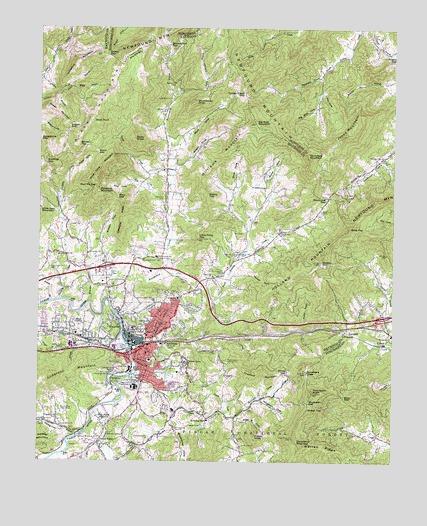 Canton Nc Topographic Map Topoquest
