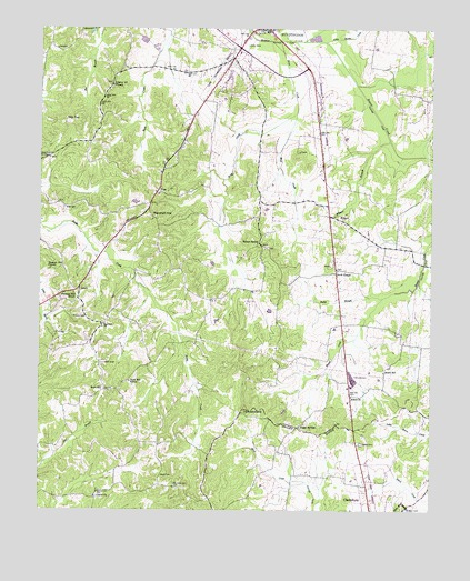 Palmer Shelter, TN USGS Topographic Map