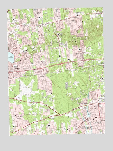 Patchogue, NY USGS Topographic Map