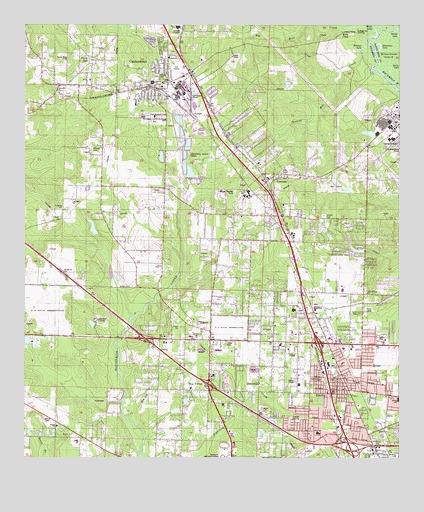 Cantonment, FL USGS Topographic Map