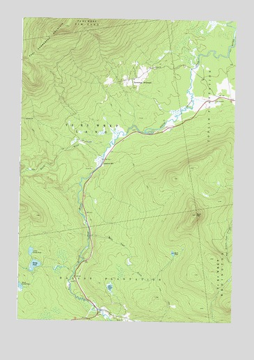 Quill Hill, ME USGS Topographic Map