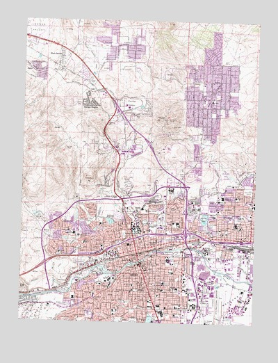 Topographic Map Of Nevada.Reno Nv Topographic Map Topoquest