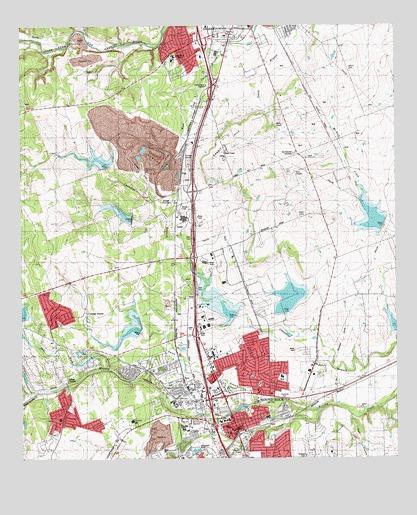 Round Rock TX Topographic Map TopoQuest - Texas topographic map