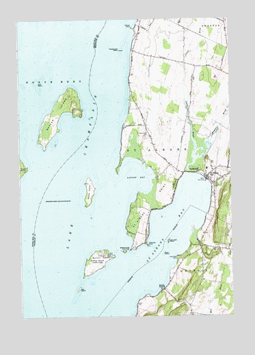 Saint Albans Bay, VT Topographic Map - TopoQuest