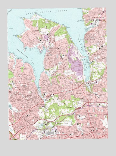 Sea Cliff, NY USGS Topographic Map