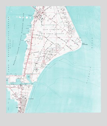 Cape Canaveral, FL Topographic Map - TopoQuest on
