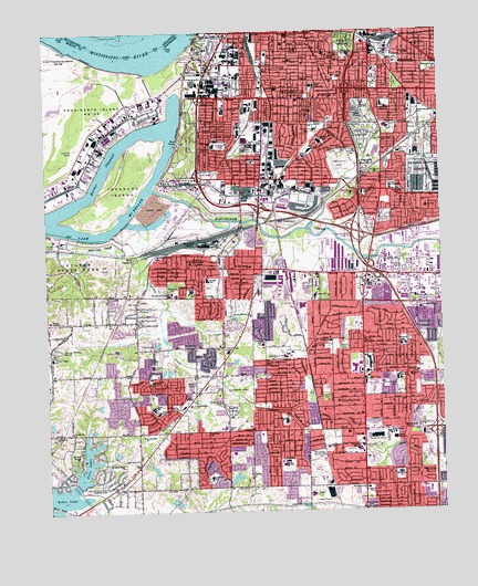 Southwest Memphis, TN Topographic Map - TopoQuest