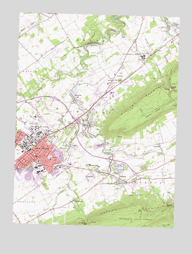 State College PA Topographic Map TopoQuest - Topographical map of pa