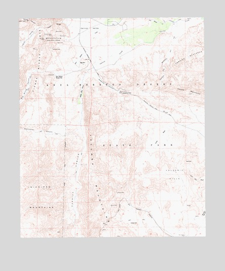 Sweeney Pass, CA USGS Topographic Map