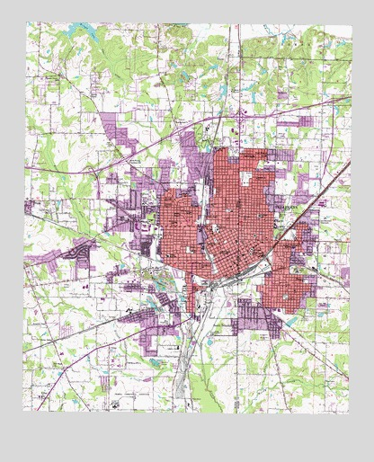 Texarkana tx topographic map topoquest texarkana tx usgs topographic map publicscrutiny Choice Image