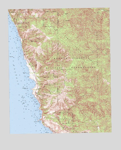 st martin california map Cape San Martin Ca Topographic Map Topoquest