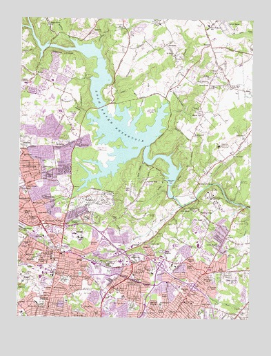 Towson, MD USGS Topographic Map