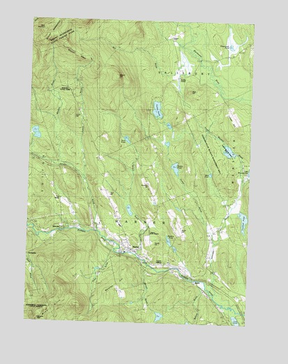 Warner, NH USGS Topographic Map