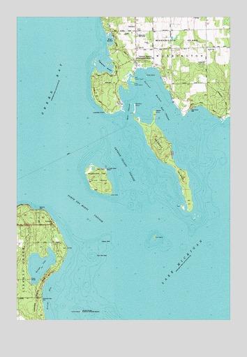 Washington Island SW WI Topographic Map  TopoQuest