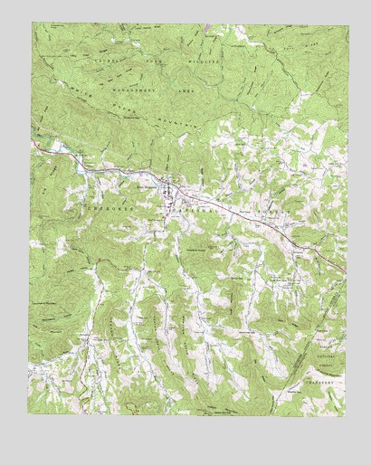 White Rocks Mountain, TN USGS Topographic Map