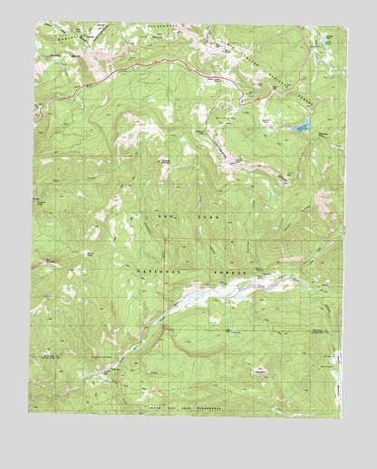 Wolf Creek Pass, CO USGS Topographic Map